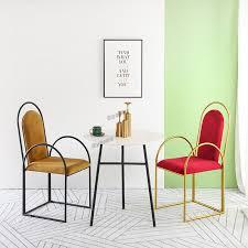 nordic stühle luxus esszimmer stuhl hause moderne homestay ins zurück stuhl goldene sessel verhandlung freizeit tisch und stuhl