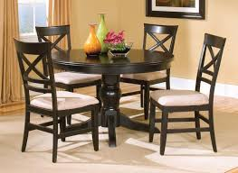 Lovely Black Round Kitchen Table Modern New Sets Dining Room
