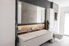 betonoptik wand wohnen betonoptik badezimmer betonoptik