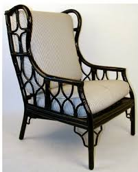 rattan chair painted black lovely dressing a space