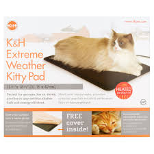 Kh Thermo Kitty Heated Cat Bed by K U0026h Extreme Weather Kitty Pad Walmart Com