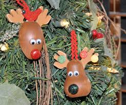 Donner And Blitzen Christmas Tree Ornaments by Megpie Designs Christmas Reindeer Ornaments