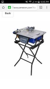 Kobalt Tile Saw Manual by Find More Reduced For Next Hour Used Kobalt Kb7004 Wet Tile Saw