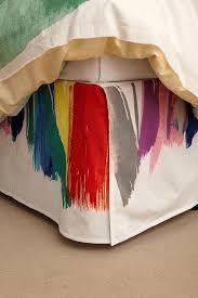 Multicolored Brushstrokes Bedskirt view full size