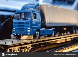 100 Model Toy Trucks Trucks On A Toy Road Stock Photo Venerala 227441648