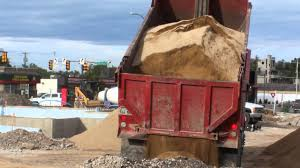 100 Red Dump Truck Dumping A Load Of Very Fine Dirt YouTube