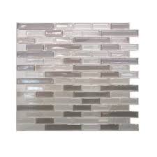 Smart Tiles Mosaik Multi by Smart Tiles Muretto Beige 10 25 In W X 9 125 In H Peel And Stick