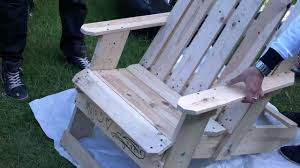 how to make garden chair from palllets youtube