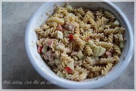salade de thon pâte et menthe maki cuisine