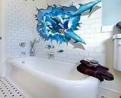 3d unterwasserwelt deko wandtattoos wandbilder fürs