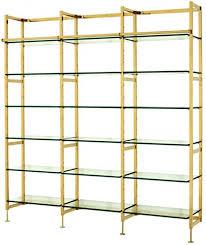 casa padrino regal schrank edelstahl gold mit glasböden b