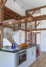 boston rustic track lighting kitchen farmhouse with loft landing