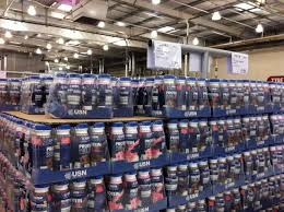Costco End Cap USNs Pure Protein Ready To Drink Is A High Low Carbohydrate Fat Meal Replacement Or Slimming Shake 8 X