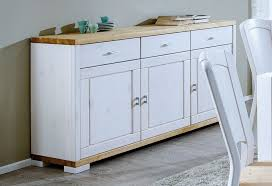 massivholz kommode 3türig weiß kiefer massiv sideboard