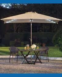 Solar Lighted Rectangular Patio Umbrella by Rectangular Patio Umbrella Offset Nucleus Home