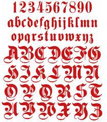 Alphabet Gothic Red Graffiti Alphabet Letters Alphabet Gothic