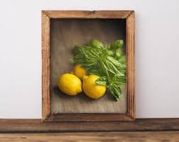 Kitchen Wall Art Print Food Lemon Decor Yellow