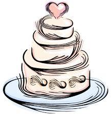 Drawn wedding cake symbol 1