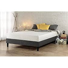 amazon com zinus 12 inch deluxe wood platform bed no boxspring