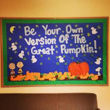 Halloween Classroom Door Decorations Pinterest by Halloween Bulletin Board Charlie Brown And The Great Pumpkin Ra
