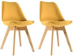 moloo 2 stück stühle skandinavischen esszimmer stoff gelbe 48 x 49 x 79 cm