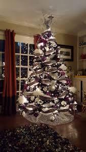 Black White And Purple Christmas Tree