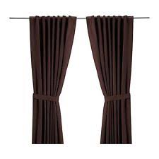 Ikea Sanela Curtains Brown curtains drapes u0026 valances in brand ikea color brown ebay