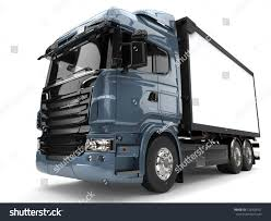 Metallic Blue Modern Refrigerator Truck 3 D Stock Illustration ...