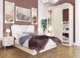 schlafzimmer set schrank bett 160x200cm nachtkonsole creme