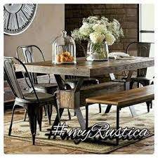 Furniture Including Hammered Copper Tables And Handmade Zinc Table Tops For Furnishing Rustic Style Dining
