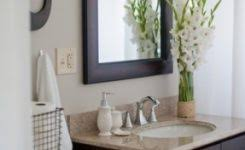 Spa Like Bathroom Accessories Fresh Flowers And White Help Create A Throughout 287