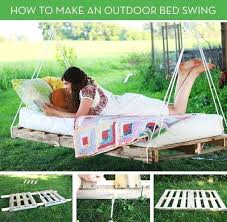 Make Pallet Furniture View In Gallery Pallet Swing Bed Pallet