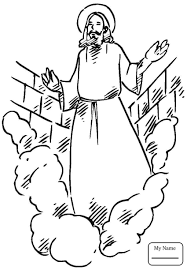 Coloring Pages For Kids Jesus Resurrection Angel Tells The Women That Has Risen Christianity Bible