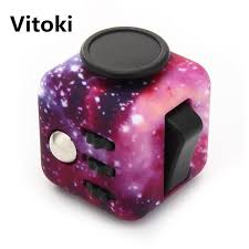 Vitoki Fidget Cube High Quality Silicone Buttons Camouflage Magic Toy Anti Stress Puzzle