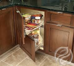 Blind Corner Base Cabinet Organizer by Greenfield U0027s Blind Corner Cabinet With Independent Curved Shelves