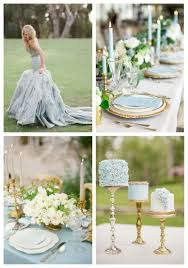 26 Delicate Dusty Blue And Gold Wedding Ideas