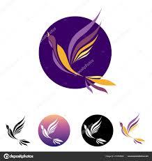 100 Small And Elegant Logo Bird Flight Bright Plumage Purple Pink