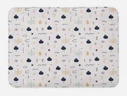 badematte plüsch badezimmer dekor matte mit rutschfester rückseite abakuhaus boho hippie scandinavian zeichnungen kaufen otto