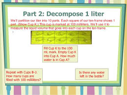 100 milliliters to liters math module 2 lesson 9