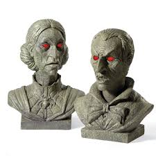 Grandin Road Halloween Catalog by Talking Halloween Busts The Green Head
