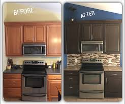 Cabinet Refinishing Kit Before And After by Best 25 Cabinet Transformations Ideas On Pinterest Rustoleum