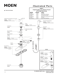 Moen Kitchen Faucet Repair Diagram Moen 87605 87604 User Guide Manualzz