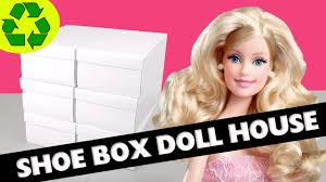how to make a shoe box dollhouse part 1 structure easy doll