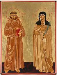 st francis of assisi and st clare painting by joseph malham