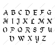 Gothic Graffiti Alphabet Stencil Letters Free Printable Stencil