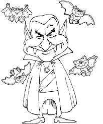 Vampire Coloring Pages With Bats