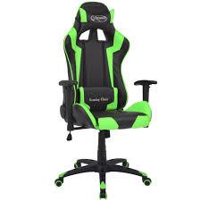 fauteuil bureau inclinable de bureau inclinable cuir artificiel vert
