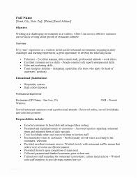 Waitress Resume Example Sample For Cocktail Job Position Of