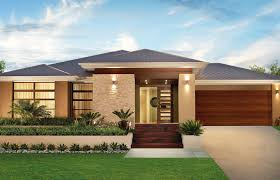 Single Story Modern Home Design New In Unique One Storey House Designs Simple Contemporary Plans