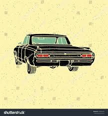 Old Vintage Retro Car Vector Illustration Stock Vector (Royalty Free ...